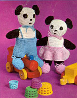 vintage knitting pattern for pandas