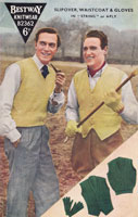 vintage mens knitting pattern for waist coats