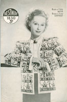 vintage ladies  fair isle jacket knitting patterns