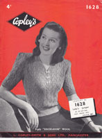 vintage ladies summer jumper knitting pattern 1940s