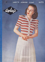 vintage ladiessummer top knitting pattern 1940s
