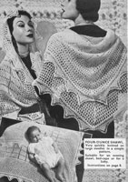 vintage 1950s ladies shawl knitting pattern