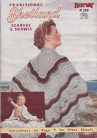 vintage ladis shawl knitting pattern 1950s