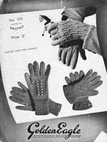 1940s vintage knitting pattern gloves ladies wartime