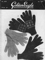 1940s ladies vintage glove jnitting pattern