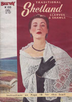 vintage ladies shawl knitting patterns 1950s