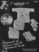 vintage baby vest and knickers bootees knitting pattern ladyship 351 1920a