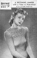 vintage knitting pattern ladies twin set cardigan jumper 1940s wartime