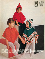 vintage poncho knitting patterns