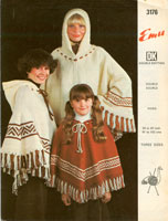 vintage childs poncho knitting patterns