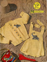 babies cardigan with motif knitting patterns