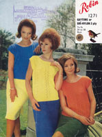 summer top knitting pattern for ladies 1960s