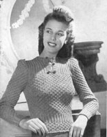 ladies vintage knitting pattern for jumoper 1943