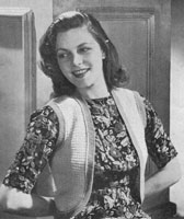 vintage knitting pattern for ladies bolero from 1944