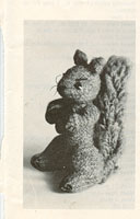 vintage toy squirrel knitting pattern