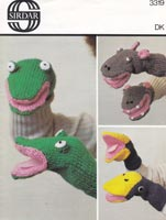 toy knitting pattern for glove puppets