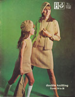 vintage girls and ladies knitting patern suit and beret vintage