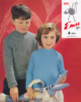 vintage boys and girls rib jumper knitting pattern 1960s
