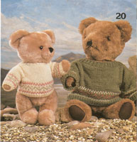 vintage knitting pattern for teddy