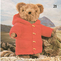vintage knitting pattern for bear clothes