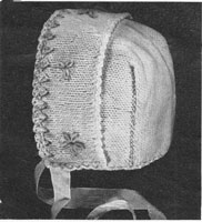 vintage baby bonnet knitting pattern 1930s