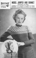 vintage fair isle knitting pattern form bestway