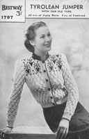 vintage fair isle bestway knitting patterns