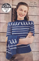 vintage bestway fair isle knitting patterns