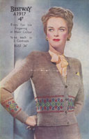 vintage fair isle knitting pattern for ladies