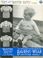 vintage boys buster suit patterns