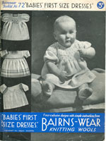 vintage knitting pattern for baby dresses