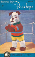 vintage dog knitting pattern