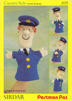 vintage postman pat glove puppet knitting patterns