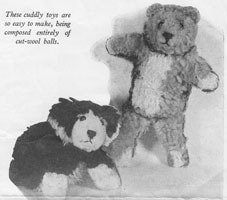 vintage weldons knitting pattern dog 1920