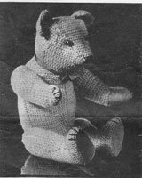 vintage crochet bear patterns