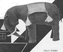 vintage elephant toy knitting patterns