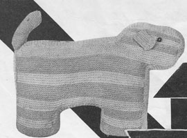 vintage wooly dog knitting patterns