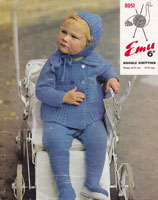 vintage knitting patterns baby pram set