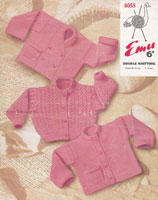 vintage knitting pattern for baby cardigans