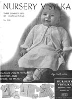 vintage baby matinee sets knitting pattern 1930s