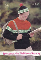 vintage 1960 fair isle knitting pattern for men