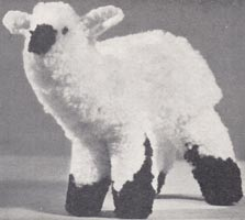 copley cut wool or pompom toy lamb