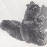 pompom pattern toy squirrel