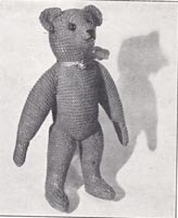 vintage knitting pattern toy penguin