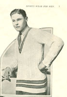 vintage tennis sweater knitting pattern