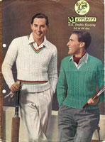 vintage knitting pattern for cricket jumper