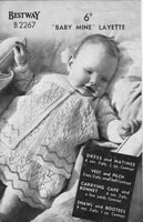vintage baby layette knitting patterns 1950s