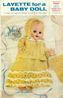 "vintage dolls knitting pattern 14"" baby doll"