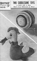 vintage 1940 ccochet toy knitting pattern