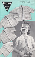 girls bolero vintage knitting pattern from 1940s